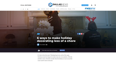 News Article: The Dallas Morning News on GO and our Client Reviews